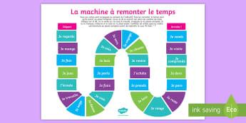 Present Tense to Past Tense French Verbs Board Game - French, Grammar, KS4, KS3, present tense, perfect tense, passé composé, 1st person, conjugate, con