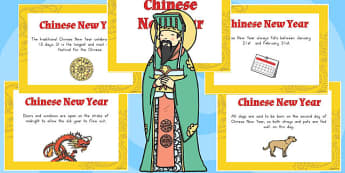 Chinese New Year Display Fact Cards - australia, facts, display