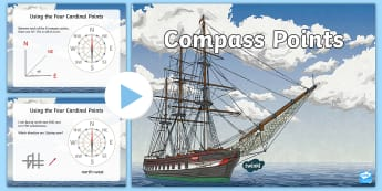 KS2 Compass Points PowerPoint - Direction, North, south, East, West