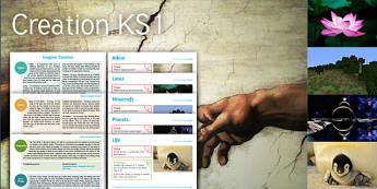 Imagine Creation KS1 Resource Pack - Adam, Eve, Lotus, Beginning, Creation, Minecraft, Planets, Life