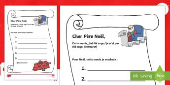 Liste pour le Père Noël - événement, festif, fêtes de Noël, écriture, cycle 1,French