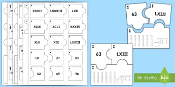 PlanIt Maths Y4 Number and Place Value Roman Numerals Home Learning Tasks