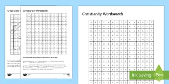 Christianity Differentiated Word Search - eternal life, Christianity, sin, death, Jesus, God.