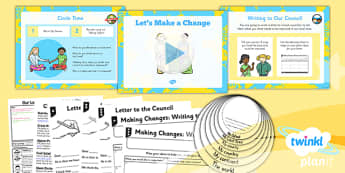 Geography: Our Local Area: Lets Make a Change Year 1 Lesson Pack 6