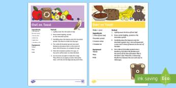 Bear and Owl on Toast Recipes - Whatever Next, Jill Murphy, teddy bear, baby bear, owl babies