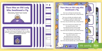 There Was an Old Lady Who Swallowed a Fly Discovery Sack - EYFS, Early Years, KS1, Science, Understanding the World, exploration, discovery, finding out, exploration, facts, information, animals, minibeasts, song, rhyme