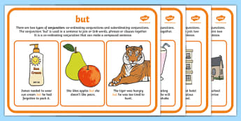 Conjunctions Display Posters - Conjunctions, Connectives
