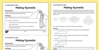Making Pyramids Activity Sheet, worksheet