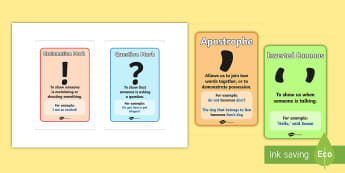 Punctuation Marks and When to Use Them IKEA Tolsby Frame  - Punctuation Marks And When To Use Them - Punctuation, VCOP, display, poster, banner, sign, writing a