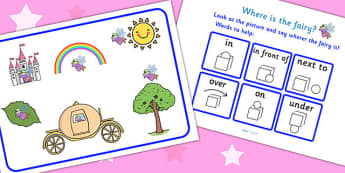 Where Is The Fairy Preposition Game - fantasy, games, puzzles, prepostions