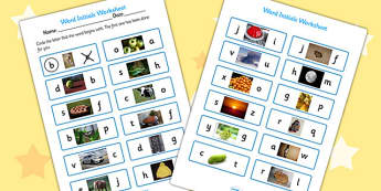 Initial Sounds Photo Worksheet - initial sounds photo worksheet, photo worksheet, initial sounds, initial sounds worksheet, initial sound sheet