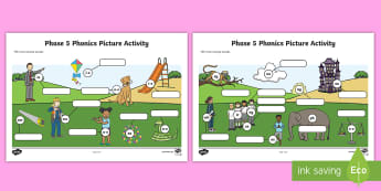 Phase 5 Phonics Picture Worksheet / Activity Sheet - Phase 5 Phonics Picture Hotspot - phase 5, phase, phonics, picture, picture, hotspot, phonics, activ