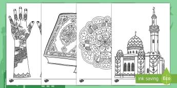 Eid Mindfulness Colouring Pages - eid ul-fitr, islam, muslim, ramadan, celebrartions
