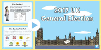 KS1 General Election 2017 Information PowerPoint -  election, general election, ks1 general election, KS1 general election, ks1 general election powerp