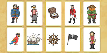 Pirate Story Telling Prompt Cards - pirate, prompt, cards, story