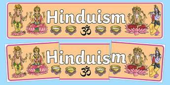 Hinduism Display Banner - Religion, faith, display, banner, sign, hindu, temple, RE