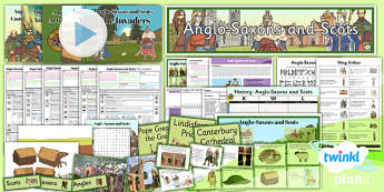 History: Anglo-Saxons and Scots LKS2 Unit Pack Flipchart