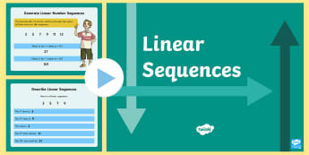 Year 6 Linear Sequences PowerPoint - KS2, Maths, nth term, linear sequences, Y6, Year 6, algebra,