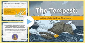 Shakespeare's The Tempest PowerPoint - The Tempest, William Shakespeare, storm, Prospero, miranda, King Alonso of Naples, Ferdinand, Sebast