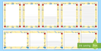 Science Test Tube Themed Page Border Pack - Science Page Borders - science, page border, borders, writing, pageborders, sceince, boardered paper