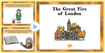 The Great Fire of London Information PowerPoint - powerpoint, information powerpoint, great fire of london, great fire of london powerpoint, information