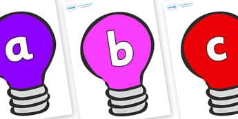 Phoneme Set on Lightbulbs (Multicolour) - Phoneme set, phonemes, phoneme, Letters and Sounds, DfES, display, Phase 1, Phase 2, Phase 3, Phase 5, Foundation, Literacy