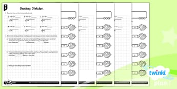 PlanIt Maths Y4 Multiplication and Division Donkey Division Home Learning