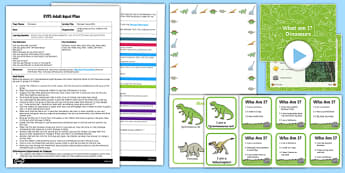 EYFS Dinosaur Guess Who? Adult Input Plan and Resource Pack