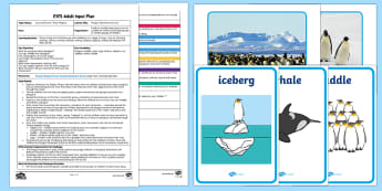 EYFS Penguin Movement Activity Adult Input Plan and Resource Pack - EYFS, Early Years, adult led, Lost and Found, Oliver Jeffers, polar regions, ice, snow.