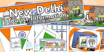 New  Delhi Tourist Information Office Role Play Pack-new delhi, tourist information, tourist, role play, role play pack, new delhi pack