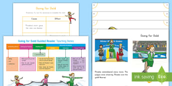 Going for Gold Guided Reader Teaching Resource Pack - 2018 Winter Olympics, sports, figure skating, guided reader, small group guided reading, Guided Read