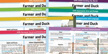 EYFS Farmer and Duck Lesson Plan and Enhancement Ideas - farmer duck, planning, plans