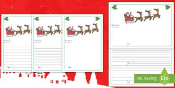 Letter to Santa Writing Template US English/Spanish (Latin) - Christmas, xmas, letter, santa, present, father christmas, writing aid