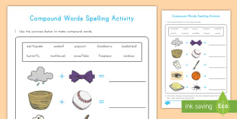 Compound Words Activity - compound words, activity, English, grammar, root words, word work, daily five, language, vocabulary
