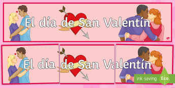 Valentine's Day Display Banner - Valentines Day, 14th February, banner, display
