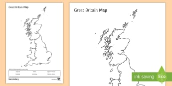 Great Britain Map Activity Sheet - map, atlas, Great Britain, GB, Home Learning, homework, cover work, extension, worksheet