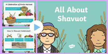 EYFS All About Shavuot PowerPoint - Powerpoint, Activity Powerpoint, Jewish, Jew, Judaism, King David, Star of David, Israel Flag, Israe