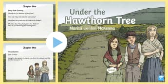 Chapter One PowerPoint to Support Teaching on Under the Hawthorn Tree -  reading, English, Bearla, the famine, an gorta mór, Marita Cilon-McKenna