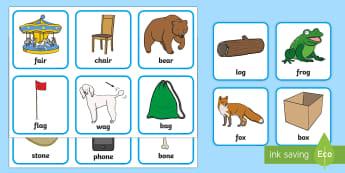 Matching Rhyming Cards - matching, match, rhyming, rhyme, cards, rhyming cards, matching cards, words