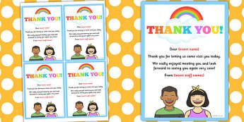 Home Visit Thank You Editable Notes - editable notes, home visit
