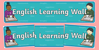 English Learning Wall Display Banner - literacy, header, display
