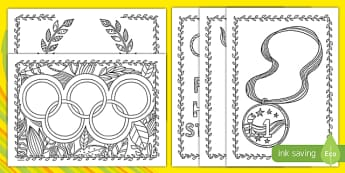 Paralympics Mindfulness Colouring Pages