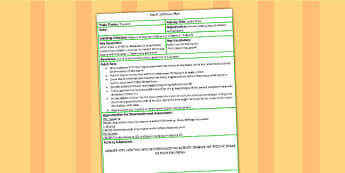 Letter Train Adult Led Focus Plan - lesson planning, plan, plans