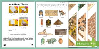 Ancient Egypt Triarama - models, 3D models, egypt, pyramids, pharaohs, Nile,Scottish, story, character, event