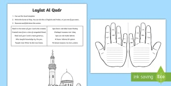 Laylat Al Qadr Handprint Craft Instructions - UAE, ADEC, MOE, animals, emirates, information,