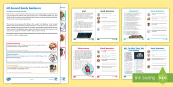 UKS2 60-Second Reads: Mystery, Chills and Thrills Activity Pack - Ninety Words Per Minute, Speed Read, Sixty Second Reads, Assessment, Reading, Timed Reading, compreh