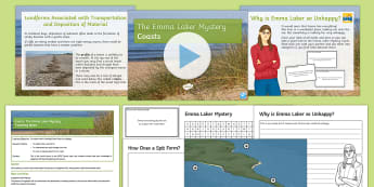 Coasts 4: The Emma Laker Mystery Lesson Pack - Y7, Y8, Y9, Differentiated, Scheme