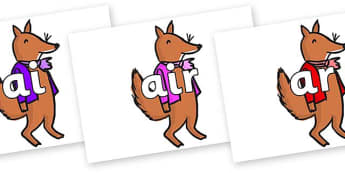 Phase 3 Phonemes on Small Fox 2 to Support Teaching on Fantastic Mr Fox - Phonemes, phoneme, Phase 3, Phase three, Foundation, Literacy, Letters and Sounds, DfES, display
