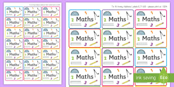 Magazine File Maths Labels -  Labels, Subjects, Stickers