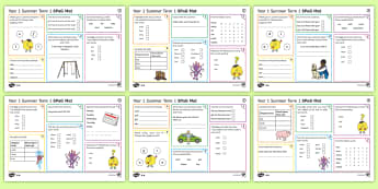 Year 1 Summer Term 1 SPaG Activity Mats - KS1, Key Stage 1, key stage one, year 1, Y1, year one, SPaG, spelling, punctuation, grammar, reading